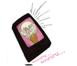 skull ice sticker #4656072