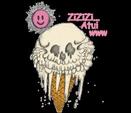 skull ice sticker #4656073