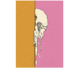 skull ice sticker #4656077