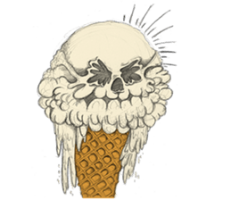 skull ice sticker #4656079