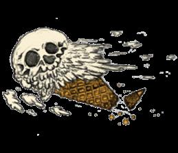 skull ice sticker #4656083