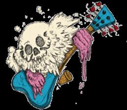 skull ice sticker #4656084