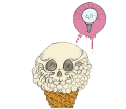 skull ice sticker #4656086