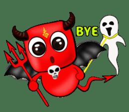 Devil fly sticker #4659227