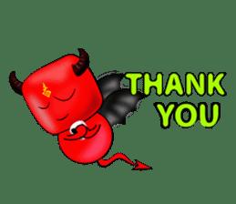 Devil fly sticker #4659236