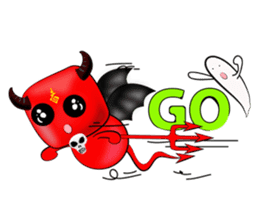 Devil fly sticker #4659237
