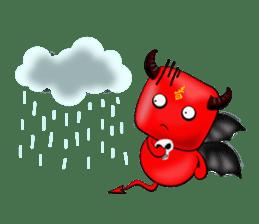 Devil fly sticker #4659241