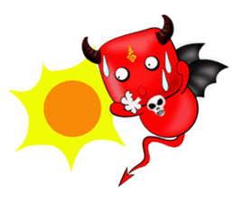 Devil fly sticker #4659244