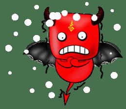 Devil fly sticker #4659245