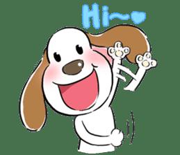 Cute Puppy 'Wini' in Roland Embley sticker #4660048