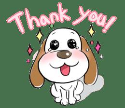Cute Puppy 'Wini' in Roland Embley sticker #4660050