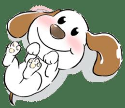 Cute Puppy 'Wini' in Roland Embley sticker #4660053