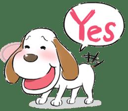Cute Puppy 'Wini' in Roland Embley sticker #4660054