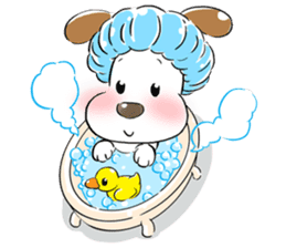 Cute Puppy 'Wini' in Roland Embley sticker #4660056