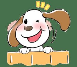 Cute Puppy 'Wini' in Roland Embley sticker #4660062