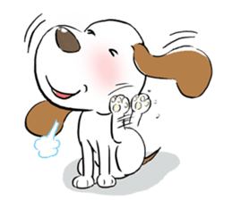 Cute Puppy 'Wini' in Roland Embley sticker #4660066