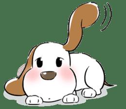 Cute Puppy 'Wini' in Roland Embley sticker #4660070