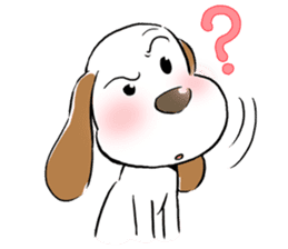 Cute Puppy 'Wini' in Roland Embley sticker #4660072