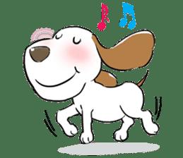 Cute Puppy 'Wini' in Roland Embley sticker #4660081