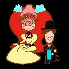 Princess Marie and the butler Sebastian