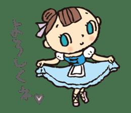 balletdancers love sticker #4673007