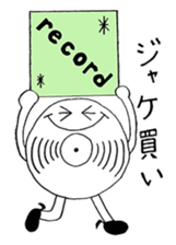 Ordinary days of record's character sticker #4677137