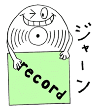 Ordinary days of record's character sticker #4677138