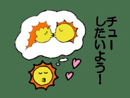 Greedy Sun sticker #4677428