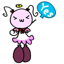 Tiny angel & tiny devil sticker #4685340