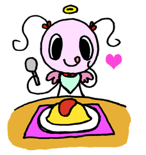 Tiny angel & tiny devil sticker #4685356