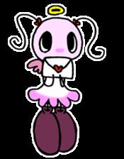 Tiny angel & tiny devil sticker #4685360