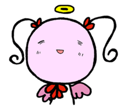 Tiny angel & tiny devil sticker #4685362