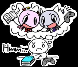 Tiny angel & tiny devil sticker #4685364