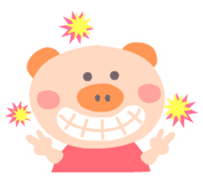 "A not-so-slim piggy - ""Debuta"" sticker #4693617"