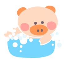"A not-so-slim piggy - ""Debuta"" sticker #4693632"