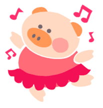 "A not-so-slim piggy - ""Debuta"" sticker #4693638"
