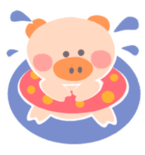 "A not-so-slim piggy - ""Debuta"" sticker #4693639"
