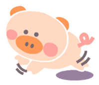 "A not-so-slim piggy - ""Debuta"" sticker #4693646"