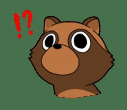 Petanko Tanuki sticker #4694975