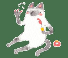 The siamese cat run hot and cold. sticker #4702513