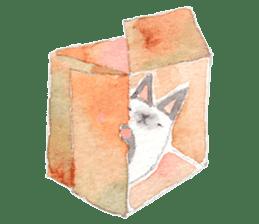 The siamese cat run hot and cold. sticker #4702514