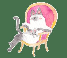 The siamese cat run hot and cold. sticker #4702515