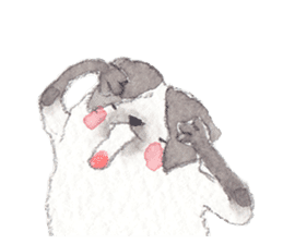 The siamese cat run hot and cold. sticker #4702516