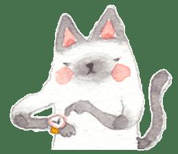 The siamese cat run hot and cold. sticker #4702518