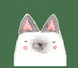 The siamese cat run hot and cold. sticker #4702521