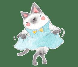 The siamese cat run hot and cold. sticker #4702523