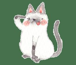 The siamese cat run hot and cold. sticker #4702528