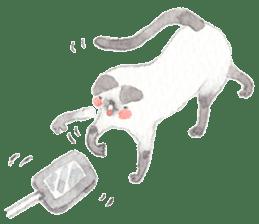 The siamese cat run hot and cold. sticker #4702529