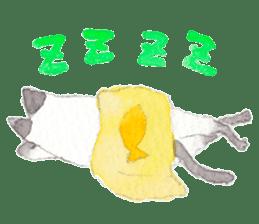 The siamese cat run hot and cold. sticker #4702533