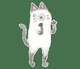 The siamese cat run hot and cold. sticker #4702535